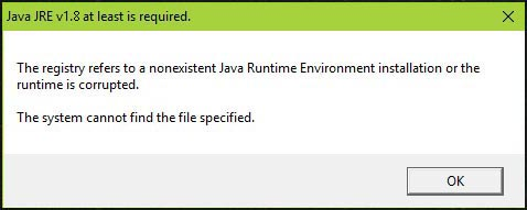 Java missing error
