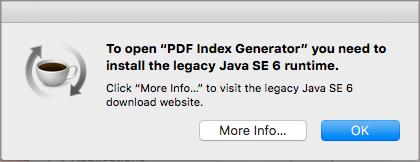 Mac - Java Legacy Error