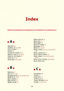 Simple book index template